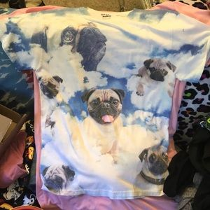 Pugs in the sky/clouds shirt